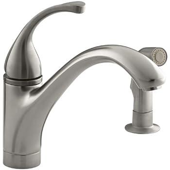 KOHLER K-10416-VS Forte Single Control Kitchen Sink Faucet