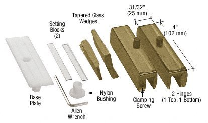 CRL Antique Brass Madrid Series Hinge Kit for 3/8