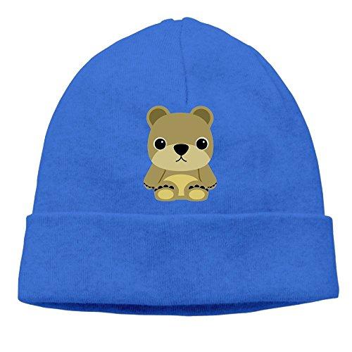 Carter Hill Cute Baby Bear Unisex Cool Hedging Hat Wool Beanies Cap RoyalBlue