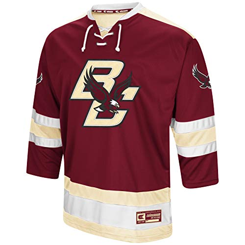 Colosseum NCAA Mens Athletic Machine Hockey Sweater Jersey-Boston College Eagles-XL