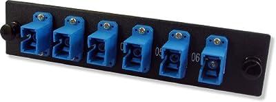 Lynn Electronics 6 Fiber SC Singlemode Adapter Strip, 6 Simplex SC Ports, LGX Footprint