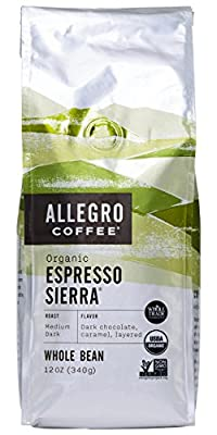 Allegro Coffee Organic Espresso Sierra Whole Bean Coffee, 12 oz by Allegro Coffee