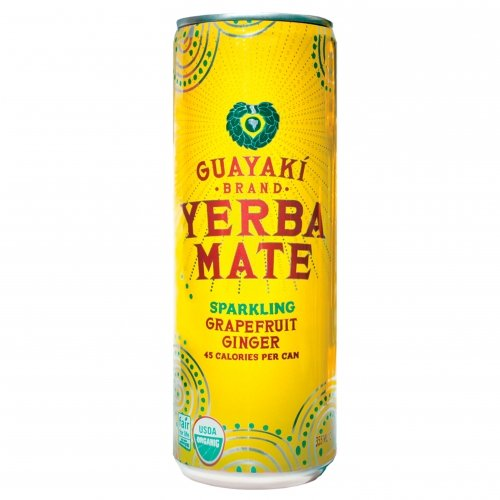 Organic Yerba Mate, Sparkling Grapefruit Ginger, 12 Ounce (pack Of 12) by Guayaki