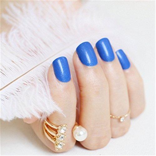 Beautiful Candy Color Nail Finished Fake Nails Short Paragraph 24Pcs Deep Burgundy P83 080 -