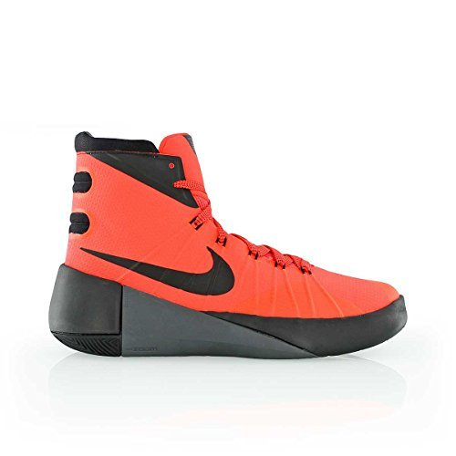 nike hyperdunk 2015 (GS) hi top basketball trainers 759974 sneakers shoes (uk 5 us 5.5Y eu 38, bright crimson black grey 600)
