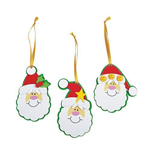 Foam Simple Santa Ornament Craft Kit/Crafts/Activity/School Supplies/Christmas Ornaments-makes