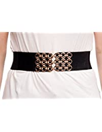 Sunny Belt Women's Golden Circle Buckle Waist Belt Small