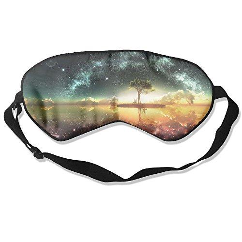 Madge Kelley Eye Mask Adjustable-Strap Eyeshade Sleeping Mask Skin-Friendly Fantasy Island Night Blindfold Night Sleep -