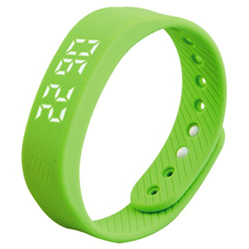 feifuns Smart Wristband Pedometer Watch Non-Bluetooth Pedometer Bracelet Fitness Tracker Watch with Step Calories Counter Distance Time/Date [No app,No Phone Need] for Walking Running Kids Men Women