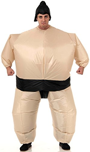 Forum Novelties Men's Inflatable Sumo Wrestler Costume, Multi, One Size (Mens Inflatable Sumo Costume)