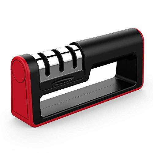 Kitchen Knife Sharpener – 3-Stage Knife Sharpening Tool Helps Repair, Restore and Polish Blades