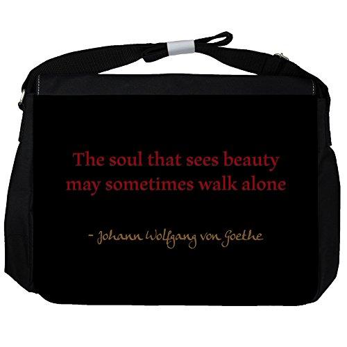 The soul that - Johann Wolfgang von Goethe Unisex Umhängetasche