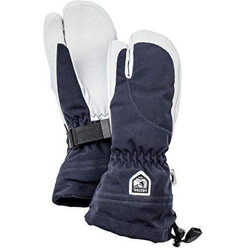 Hestra Women's Heli 3-Finger Gloves, Navy, Size 7