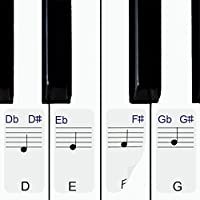 Stickers for Piano / Keyboards, 49,61,76,88 Key Full Set...