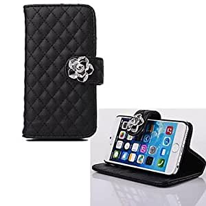 TOPAA ships in 48 hours Plaid Shape PU Leather Cover Card Slots with Stand for iPhone 6(Assorted Colors) , Blue