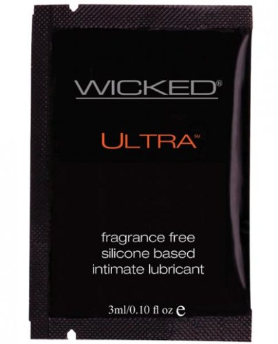 Ultra Silicone Based Lubricant - 3 ml. Packet Fragrance Free (Hulk Candy Bowl Holder)