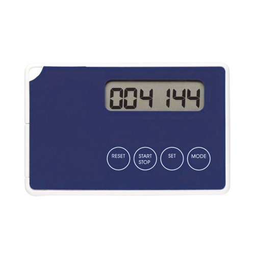 Fabrication Pedometer, Step and Distance, Credit-Cart Style, Digital