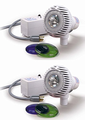 2) NEW Pentair 98600000 AquaLuminator Above Ground Pool Lights w/ 2 Color Lens by Pentair