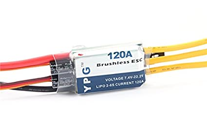 Amazon com: Gartt@YPG LV-120A (2~6S) Brushless Speed Controller ESC