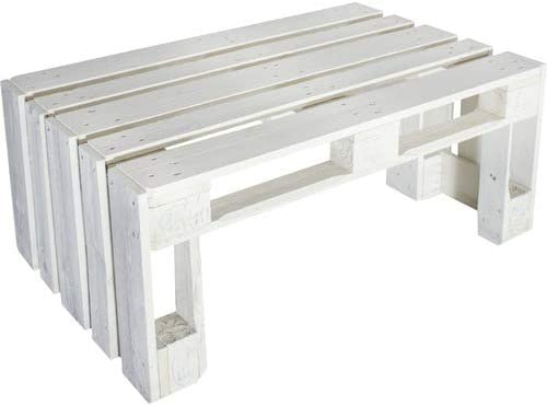 Dydaya Mesa de Palets Pintada en Color Blanco - Mesitas & Mesas ...