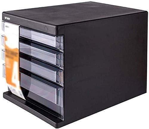 フラットファイルキャビネットフラットファイルのデスクトップストレージボックス家具アーカイブキャビネット4引き出しプラスチックで引き出し、高容量缶ストアA4ファイル ファイリングキャビネット (Color : 1)