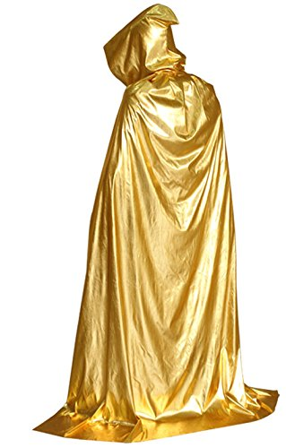 Unisex Hooded Robe Cloak Role Cape Play Family Costumes Full Length, Fancy Halloween Cosplay Costume (150cm, -