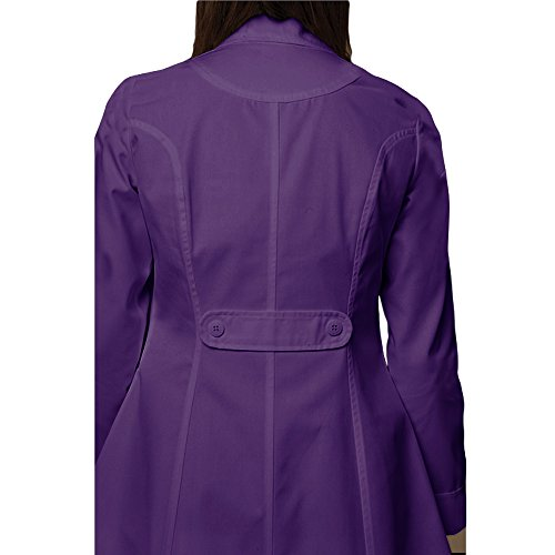 Panda Uniform Made to Order Women's 36 Inches Nursing Long Lab Coat-Purple-M by Panda Uniform (Image #4)