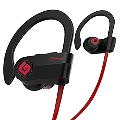 Wireless Bluetooth Headphones Waterproof IPX7, Best Sport in Ear Earbuds Earphones w/Remote and Mic HiFi Stereo Richer Bass, 9 Hrs Playback Noise Cancelling Headsets