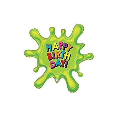 Happy Birthday 39'' Slime Paint Splat Mylar Balloon Birthday Party Decorations Supplies: Health & Personal Care