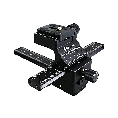 - Kiwifotos Camera Macro Focusing Rail Slider with Arca Type Quick Release for Canon EOS 6D Mark II 7D Mark II 5D Mark IV III 80D 70D Rebel T6 T7i T6i Nikon D850 D7500 D5600 D5500 D3400 D3300 and More