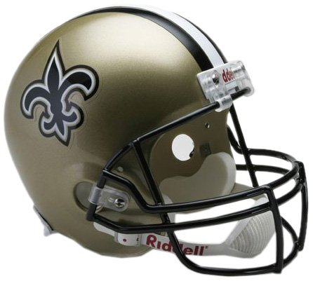 New Orleans Saints Replica Helmet - NFL New Orleans Saints Deluxe Replica Football Helmet