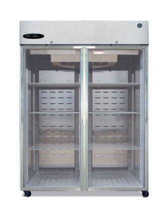Hoshizaki Commercial Series CR2B-FG 55'' 51.0 cu. ft. Refrigerator Reach-in Two-Section Full Glass Doors Energy Star Qualified and Digital Controls with LED Display in Stainless by Hoshizaki