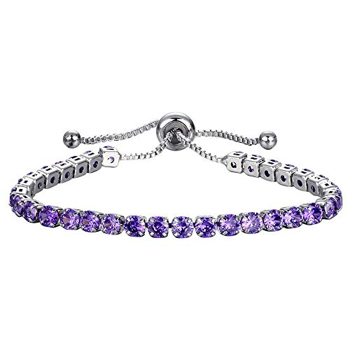 (Toponly Rhinestone Crystal Bracelet for Women Girls Adjustable Bangle Cuff Jewelry )