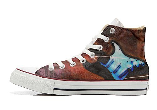 Converse All Star zapatos personalizados Unisex (Producto HANDMADE) Guitar Style