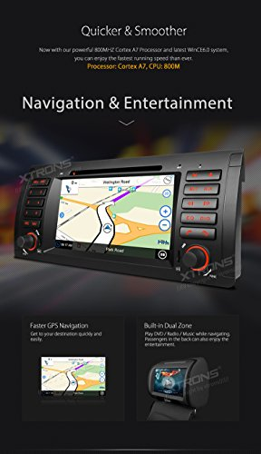 XTRONS 7 Inch HD Digital Touch Screen Car Stereo Radio In-Dash DVD Player with GPS CANbus Screen Mirroring Function for BMW E53 X5 Navigation Map Card & Reversing Camera Included by XTRONS (Image #4)