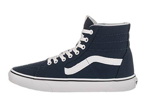 Vans Sk8-Hi Checkerboard, Unisex - Erwachsene Sportschuhe -Skateboarding Dress Blue/True White