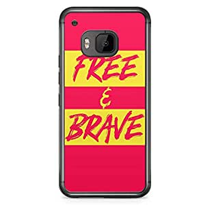 HTC One M9 Transparent Edge Phone Case Free And Brave Phone Case Neon Phone Case Colorful M9 Cover with Transparent Frame