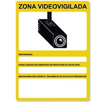 2 Carteles Adhesivos Personalizados Cámaras de Seguridad ...