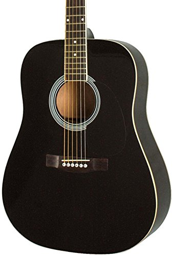 Rogue RA-100D Dreadnought Acoustic Guitar Black