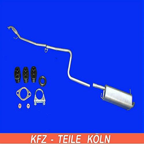 Endschalldä mpfer Auspuffrohr Auspuffanlage + Set (KS0ESMJ75) Auspuffanlagen Köln