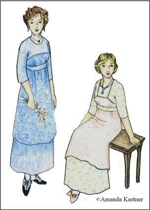 1900 Edwardian Dresses, Tea Party Dresses, White Lace Dresses 1911 -1912 Kimono Style Dress Pattern                               $19.95 AT vintagedancer.com