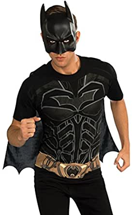 Rubie's Costume Men's Dc Comics Superhero Style Batman Movie T-Shirt, Multicolor, Medium