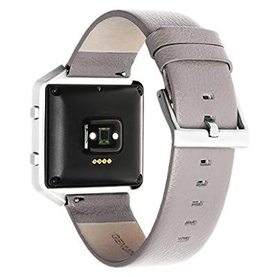 Henoda Leather Wristband for Fitbit Blaze Smart Watch,Blaze Band,Large,Small,XL