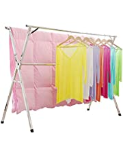 Clothes Drying Rack for Laundry Free Installed Space Saving Folding Hanger Rack for Home Heavy Duty Stainless Steel