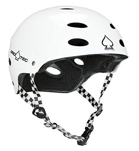 Ace Gloss - Protec Ace Helmet (Large, Gloss White)