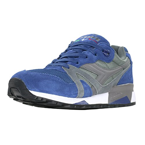 Diadora Unisex N9000 NYL II Steel Gray/Estate Blue Athletic Shoe