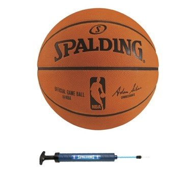 """Spalding NBA Official Game Basketball w/ 12"""" Dual Action Pump"""