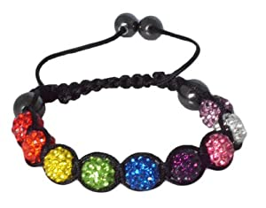 Shamballa Bracelet: 9 10mm Beautiful Sparkly Crystal Rhinestones