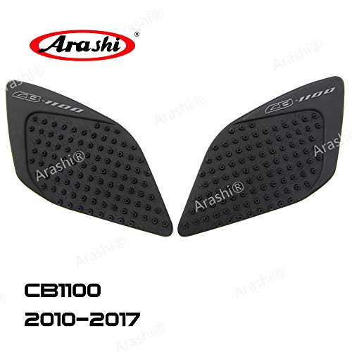 (Arashi Anti slip Gas Tank Pad Protector Stickers Knee Grip Traction Side Pads for HONDA CB1100 2010-2017 Motorcycle Accessories CB 1100 Black 2011 2012 2013 2014 2015 2016)