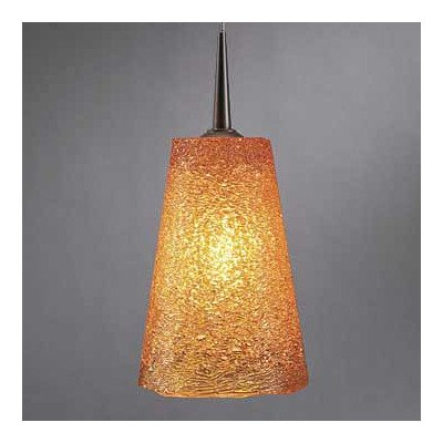Bling II 1 Light G9 Monopoint Line Voltage Pendant Finish: Bronze, Shade Color: Amber (Amber Glass Monopoint Pendant)